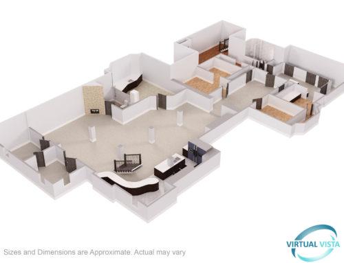 Matterport 3D Tour with 2d and 3d Floorplan