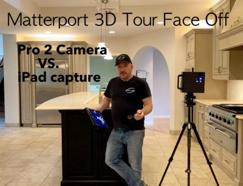 Matterport 3D Tour; Pro 2 Versus iPad